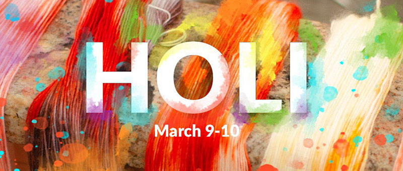 Holi Festival from March 9th to 10th, 2020.