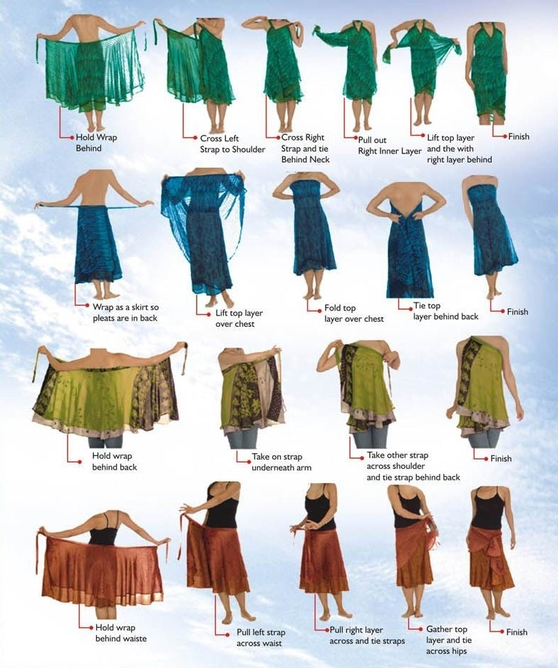 18ee64e37fa69 How to wear your one of a kind Sari Skirt from Darn Good Yarn