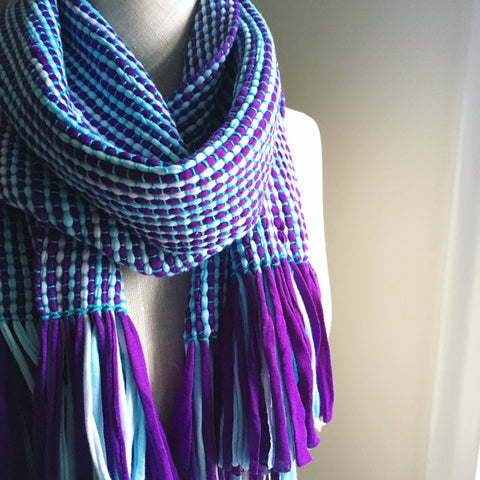 UV Stripes Cotton Scarf