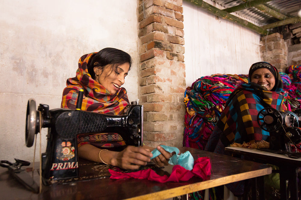 Seamstresses working in India