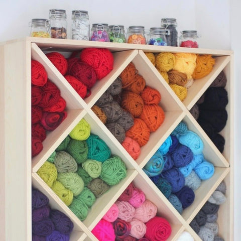 How To Organize Your Yarn Using A Wine Rack