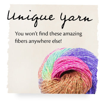 Unique Yarn. You won't find these amazing fibers anywhere else!