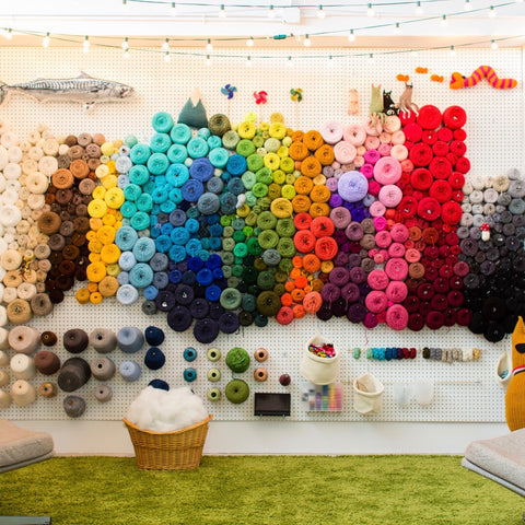 How to organize your yarn with a pegboard