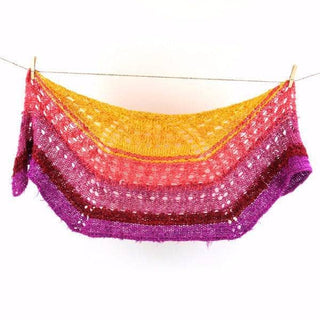 """That Sunset was Bananas!""  Lace Shawl Knitting Kit"