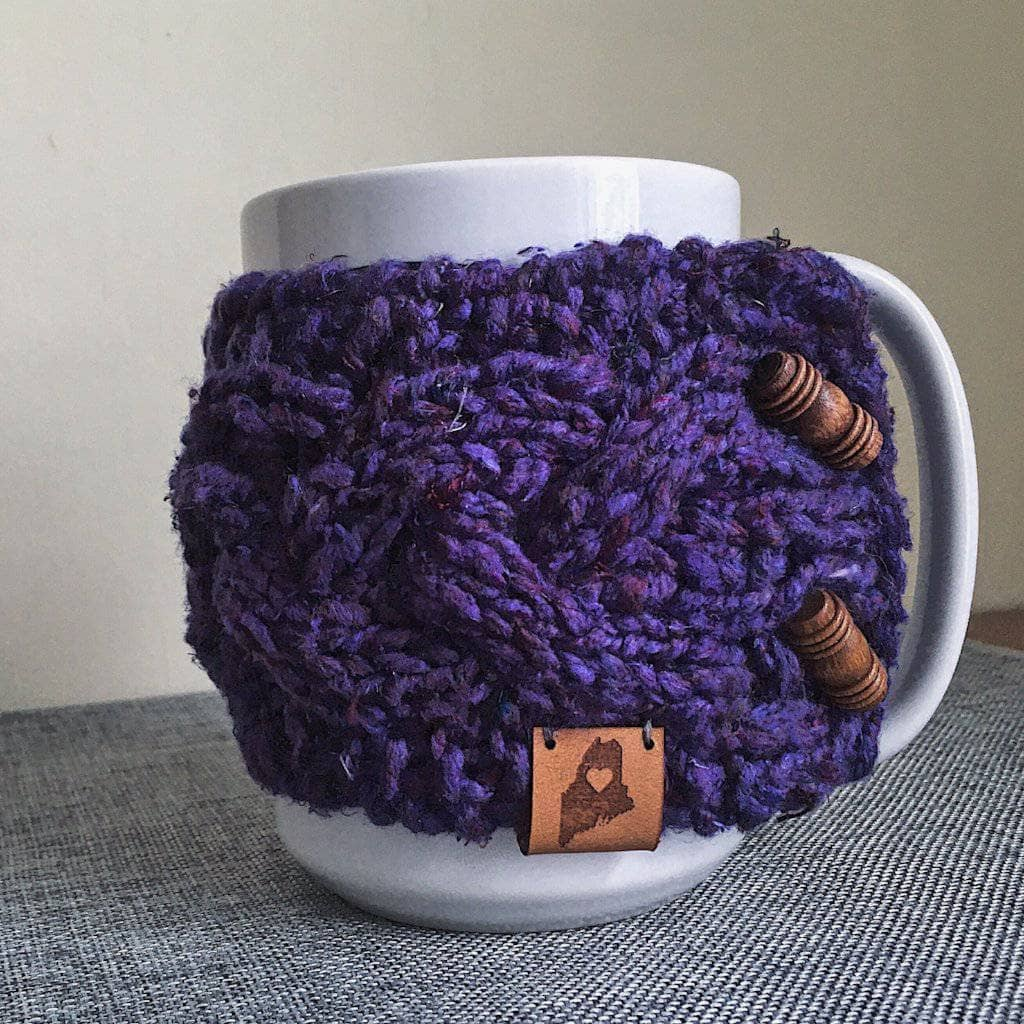 Braided Cable Mug Coozie Knit Pattern - Darn Good Yarn