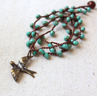 Beaded Crochet Necklace Kit - Turquoise Dove