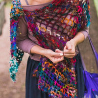 QuadraMesh Crochet Shawl Easy Pattern