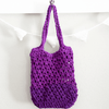 Violet Summer Tote Crochet bag on a white background
