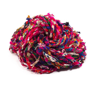 Chunky Recycled Silk Yarn Penny Candy - Multicolor Base