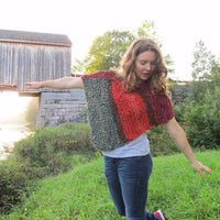 Knit: The Covered Bridge Poncho Kit: The Recycled Silk Ribbon Poncho For All