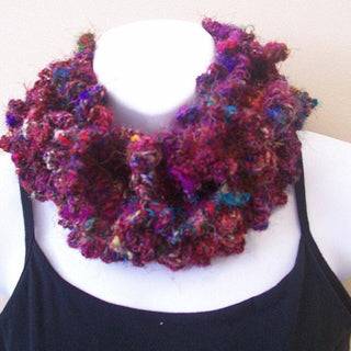 Crochet Kit: Sari Silk Cowl with Buttons Pattern By Chriss!