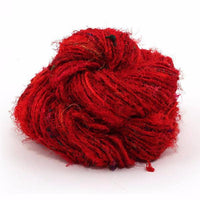 Recycled Silk Yarn Lux Adventure - Cherry Red