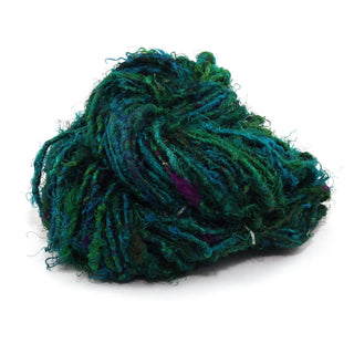 Recycled Silk Yarn Lux Adventure - Green