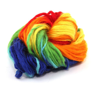 Variegated Thick and Thin Wool Yarn - Technicolor Dreams