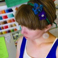 Silk Flower Headband Free Pattern - Digital Download