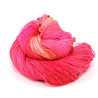Hand Beaded Silk Yarn Coral