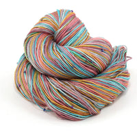 Hand Beaded Silk Yarn Rainbow Row