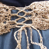 Crochet: Scallop Shells Sari Silk or Hemp Hip Belt Pattern