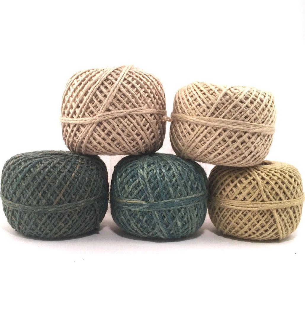 DK Weight Naturally Herbal Dyed Recycled Silk Yarn Packs + Free Yarn Bowl
