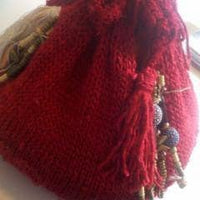 Mulberry Silk Drawstring Bag Easy Knit Pattern - Digital Download