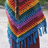 Rainbow Shawl Crochet Kit