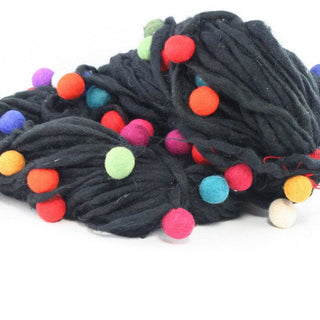 Handmade Thick and Thin Wool Felt Ball Yarn