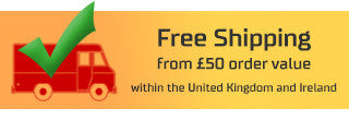 Free Shipping from 50£ order value within the United Kingdom