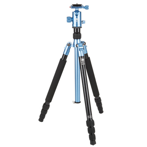 SIRUI T-004X Traveler Light - Tripod Aluminium Blue with C-10S Ball Head - T04X Kit