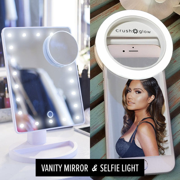 Bundle Selfie Light And Lighted Vanity Mirror Usb