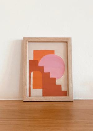 Geometric Blush Painting