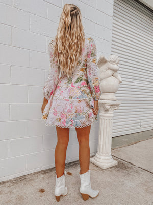 HEATHERS FLOUNCE SHORT DRESS