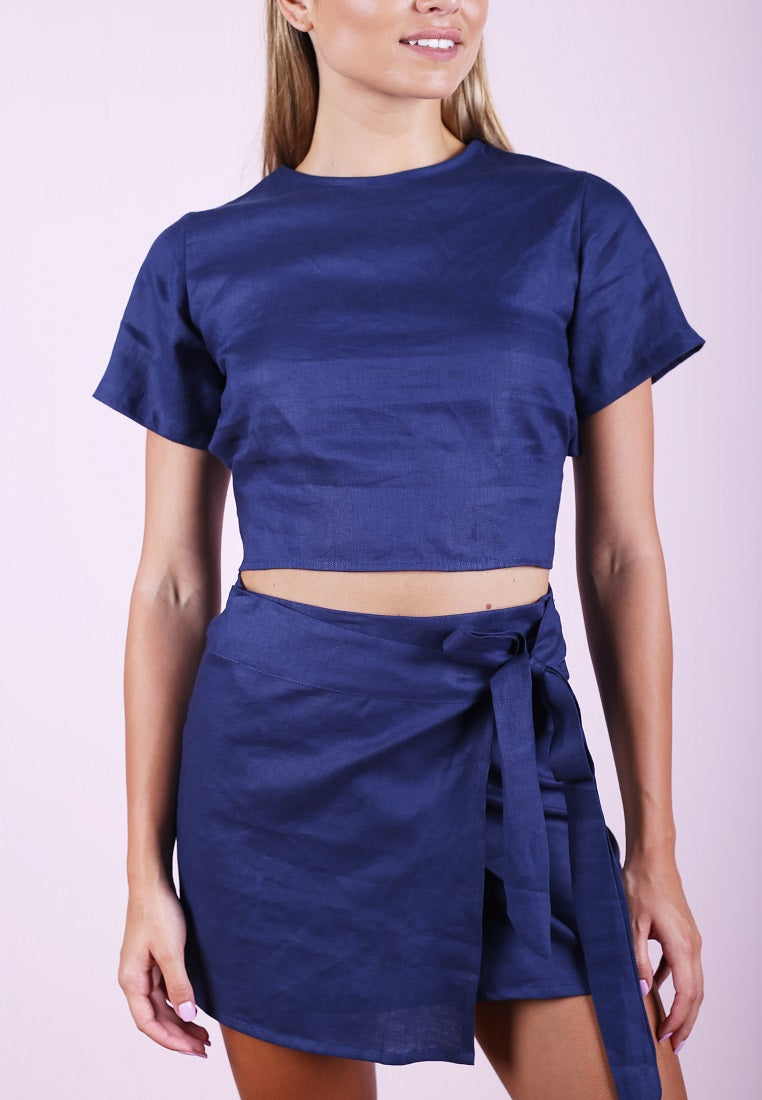 Wrap Skirt - Navy
