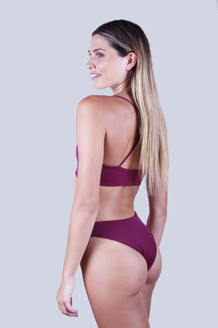 Cross Back Top - Wine