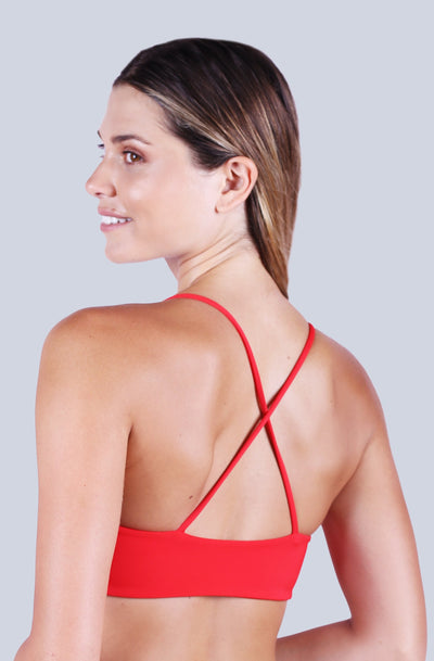Cross Back Top - Red