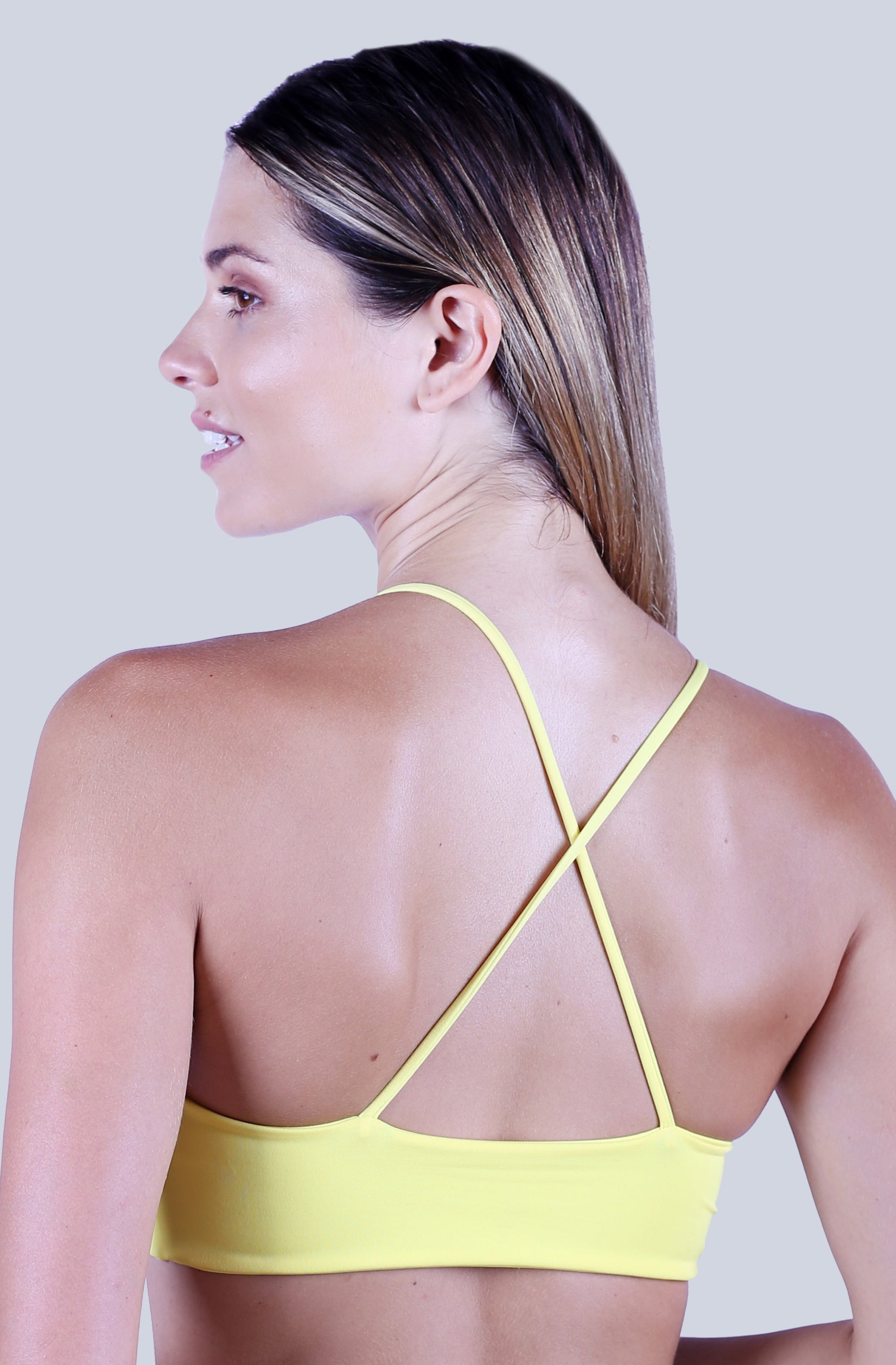Cross Back Top - Lemon Zest