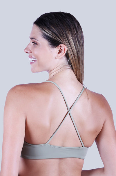 Cross Back Top - Olive