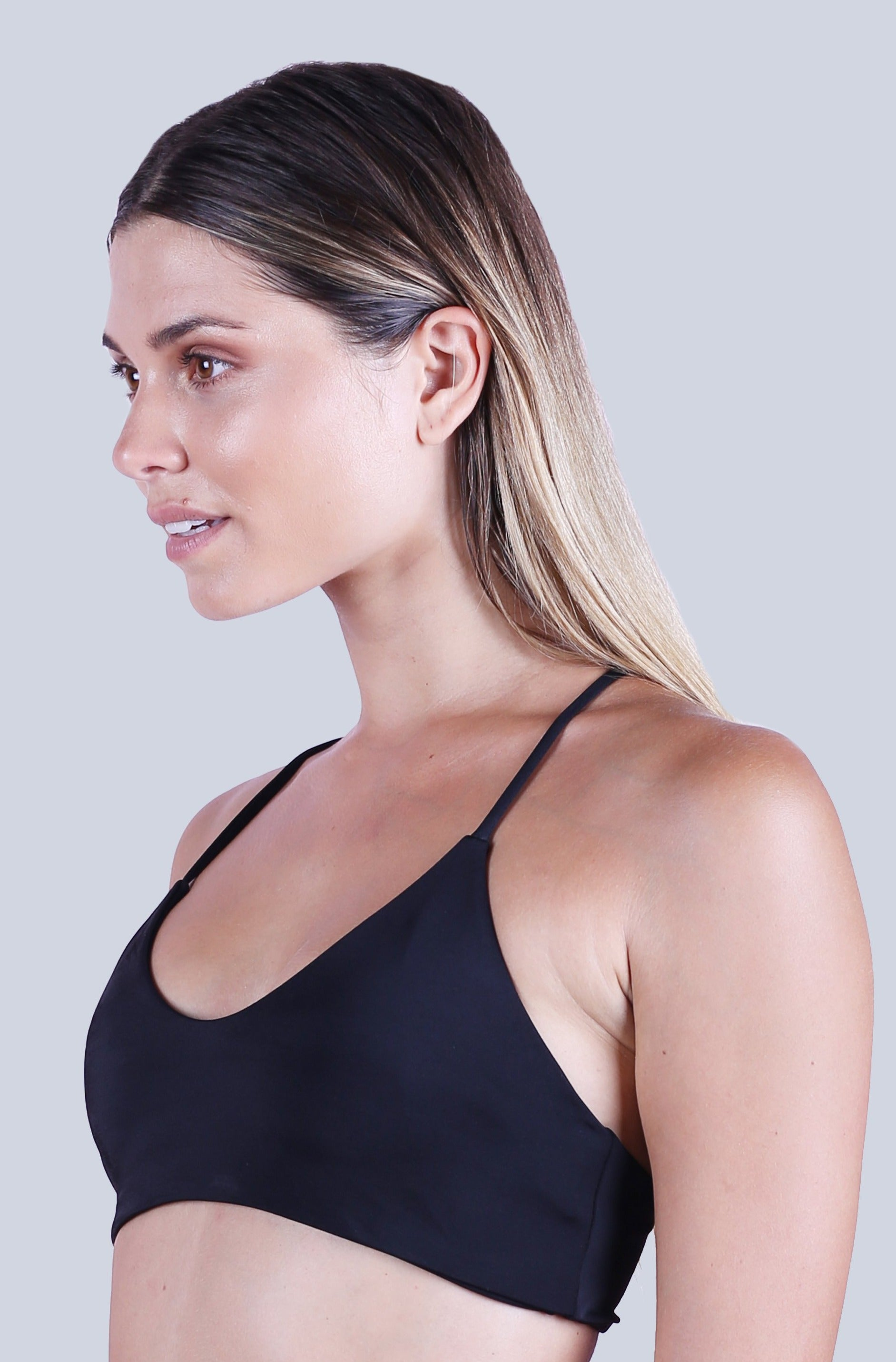 Cross Back Top - Black
