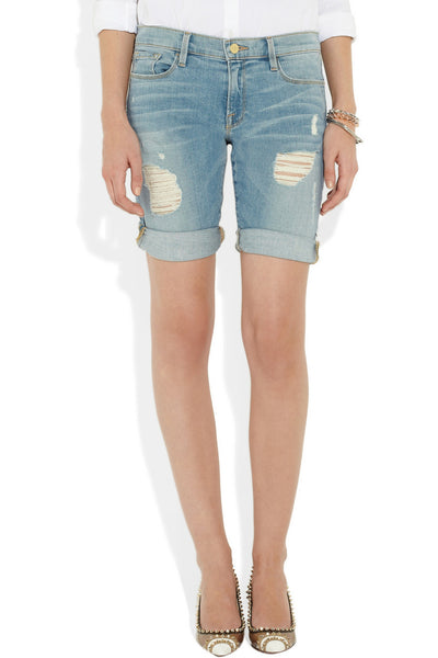 Le Garcon distressed Bermuda shorts