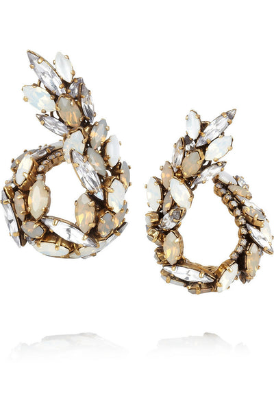 Whiter Shade of Pale gold-plated Swarovski crystal earrings