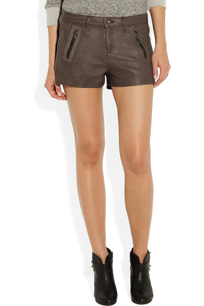 Lakshmi leather shorts