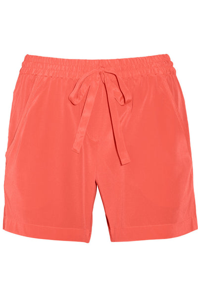 Stretch-silk crepe de chine shorts