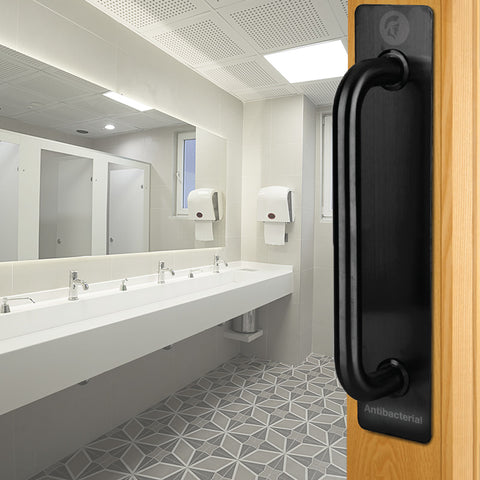 Black antibacterial pull bar handle