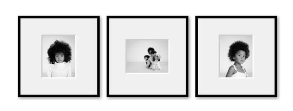 3 Small Square framed images package