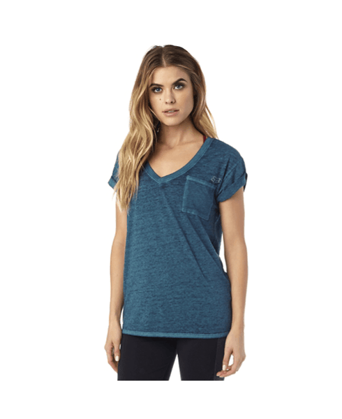 Whirlwind V-Neck Roll Sleeve Top