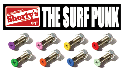 "SHORTY'S 1"" COLOR HARDWARE- SURF PUNK single - 1LT2F"