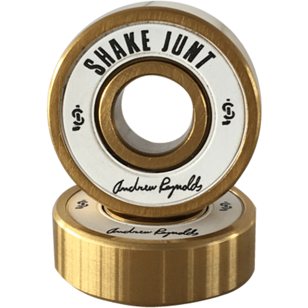 SkateJunt REYNOLDS PRO BEARINGS WHT/GOLD Single Set