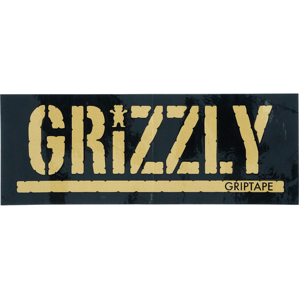 GRIZZLY STAMP BLK/GOLD DECAL 1pc
