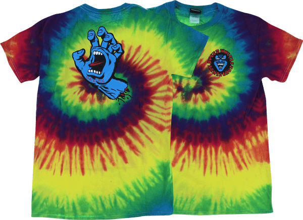 Santa Cruz SCREAMING HAND SS S-REACTIVE RAINBOW TIE DYE