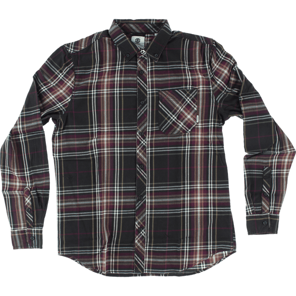 ELE BUFFALO L/S FLANNEL L-BROWN BEAR PLAID - 1LT2F