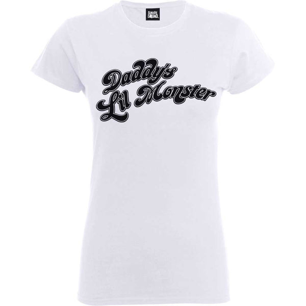 Suicide Squad Daddy's Little Monster Women's White T-shirt - 1LT2F